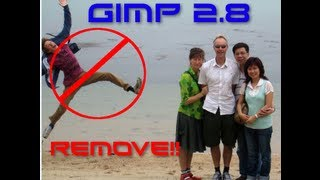 GIMP 2.8 How To Remove People (Install Resynthesizer