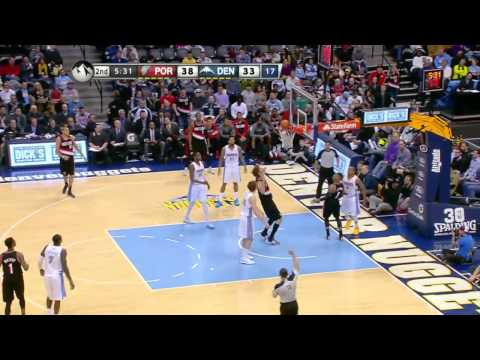 Portland Trail Blazers vs Denver Nuggets | February 25, 2014 | NBA 2013-14 Season