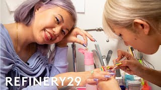 I Got A $300 3D Japanese Manicure | Beauty With Mi | Refinery29
