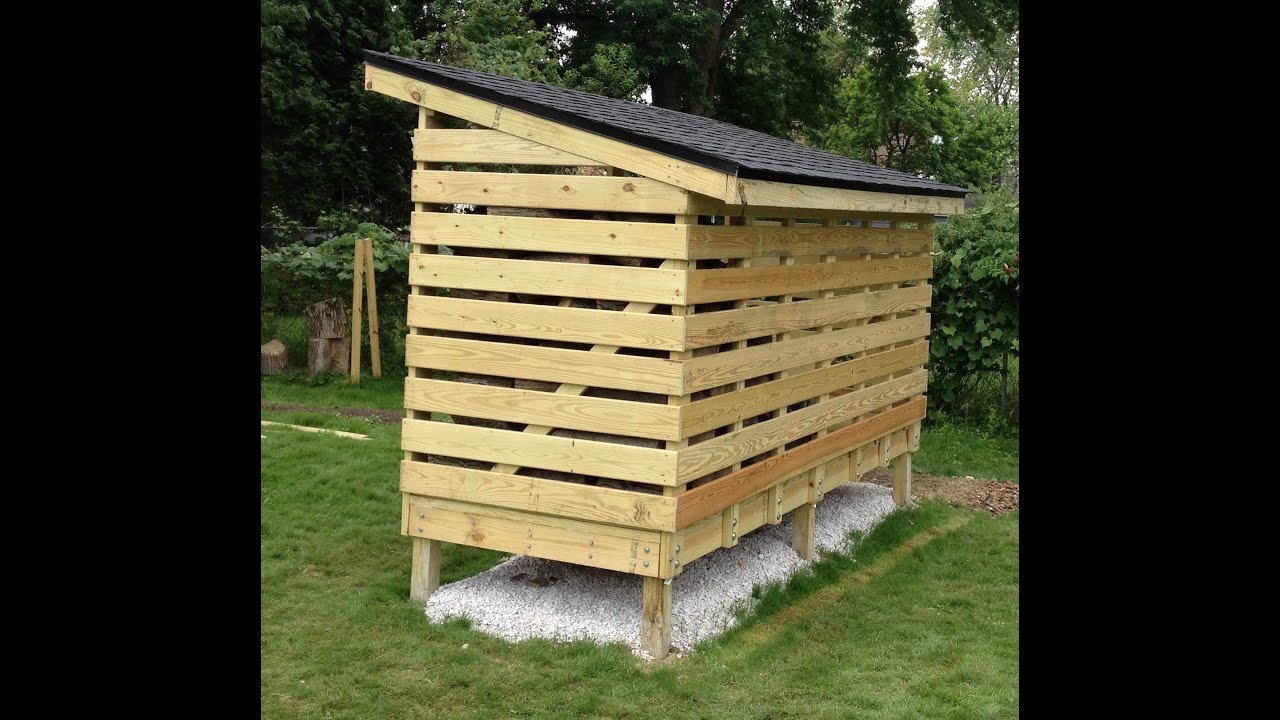How to build a Firewood-Storage Shed - YouTube