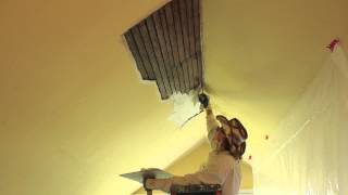 How To Repair Interior Plaster On A Ceiling.