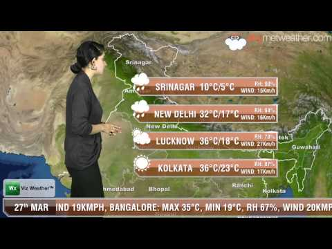 27/03/14 Skymet Weather Report for India