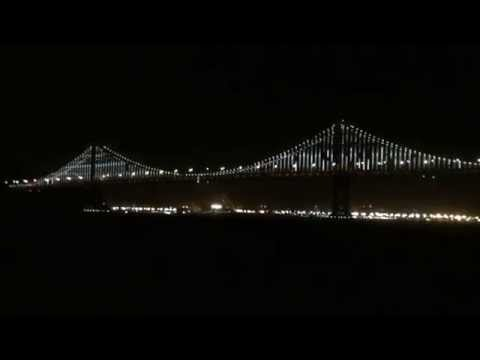 Bay Bridge at Night - World's Largest LED Light Sculpture