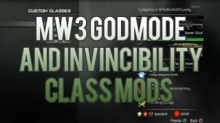 [MW3/1.24] MW3 God Mode And Invincibility Create A Class