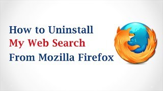 How To Uninstall My Web Search Toolbar From Firefox