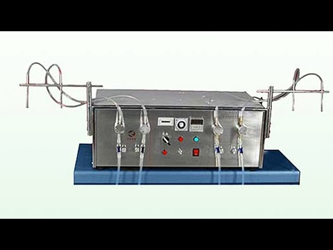 four heads liquid filling machine semi automatic magnetic pump high precision liquid filler equpment