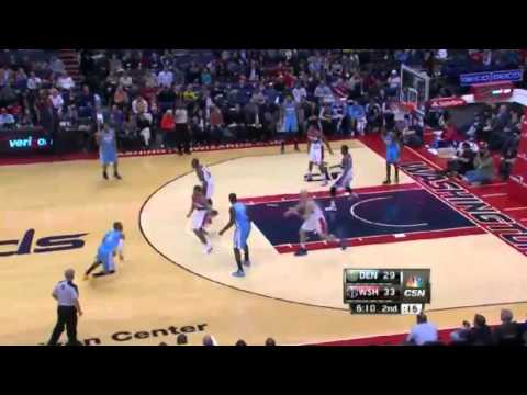 1st HALF HIGHLIGHTS  Denver Nuggets vs Washington Wizards   December 9, 2013   NBA 2013 14 Season