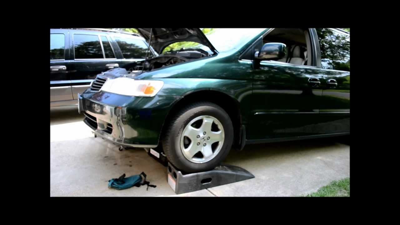 how to add transmission fluid to a 2002 honda odyssey