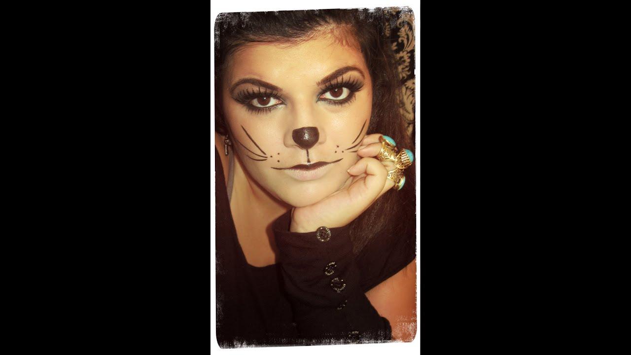 Макияжи кошки на хэллоуин фото