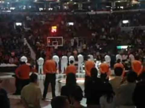 NBA game between Knicks and Raptors