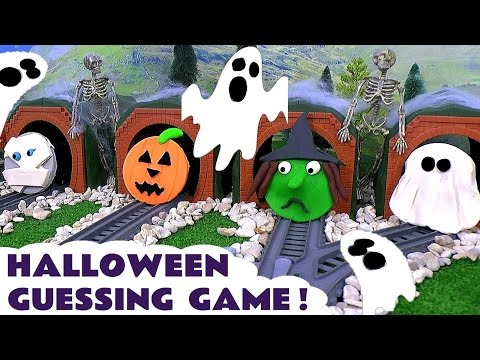 Halloween Thomas and Friends Toy Trains Spooky Play Doh Fun Family Friendly Guessing Game by TT4U