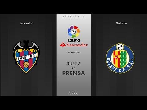 Rueda de prensa Levante vs Getafe
