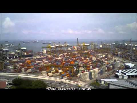 Singapore s Busy Shipping Port P1