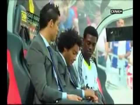 Cristiano Ronaldo,Marcelo and Adebayor joking around
