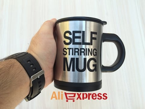 video The best self stirring coffee mug: Just Press The Button!