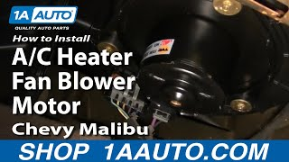 How To Install Replace A/C Heater Fan Blower Motor Chevy