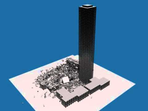 WTC South Tower Collapse 9/11 Blender