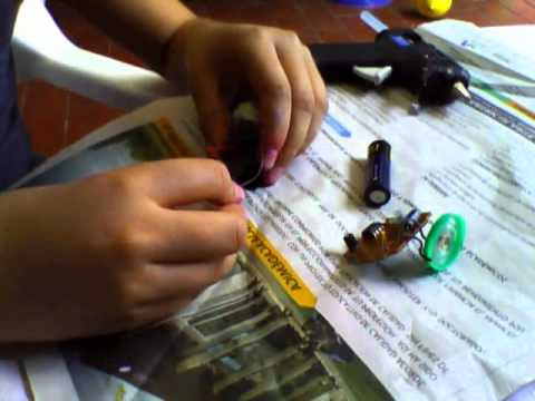 como hacer mini robot casero