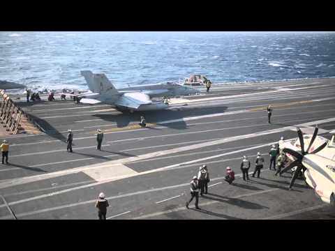140313-N-XI307-001: USS George H.W. Bush (CVN 77) Conducts Flight Ops in Med