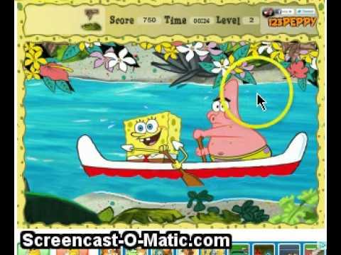 spongebob hidden objects - 123peppy - YouTube