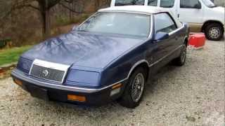 1990 Chrysler LeBaron V6 Convertible  Interior/Exterior Tour, Exhaust, Start Up, and Rev