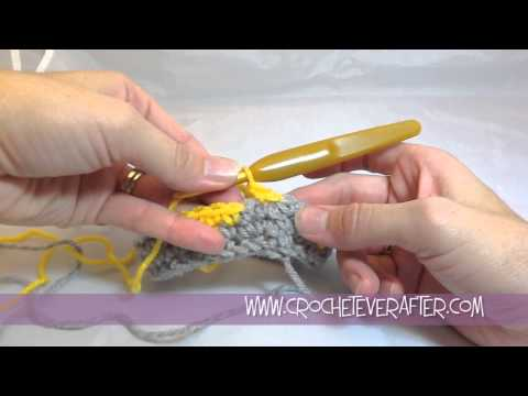 Fair Isle Crochet Tutorial #3: How to do a Clean Color Change In The Round