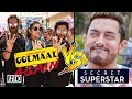 Is Aamir NERVOUS Secret Superstar CLASHES with Golmaal Again