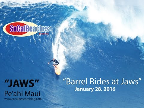 Barrel Rides and Wipe Outs at ''Jaws'' Surf Break Maui