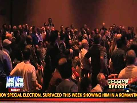Woman Throws Shoe At Hillary Clinton 4-10-14