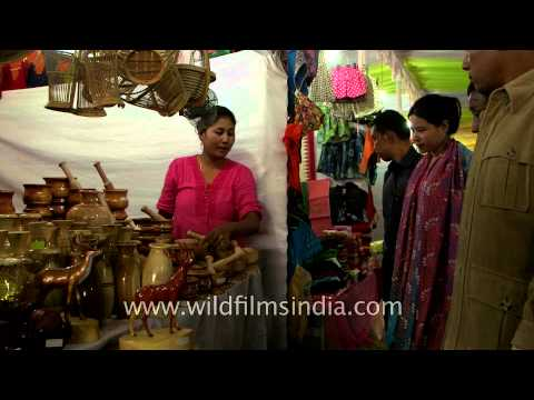 Women selling indigenous handicraft items at Sangai fest