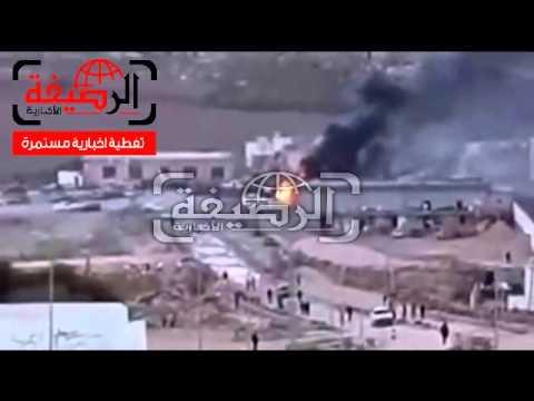 بالفيديو:تفجير السيارة المفخخة امام محطة الوقود بمدينة القبة 20.2.2015