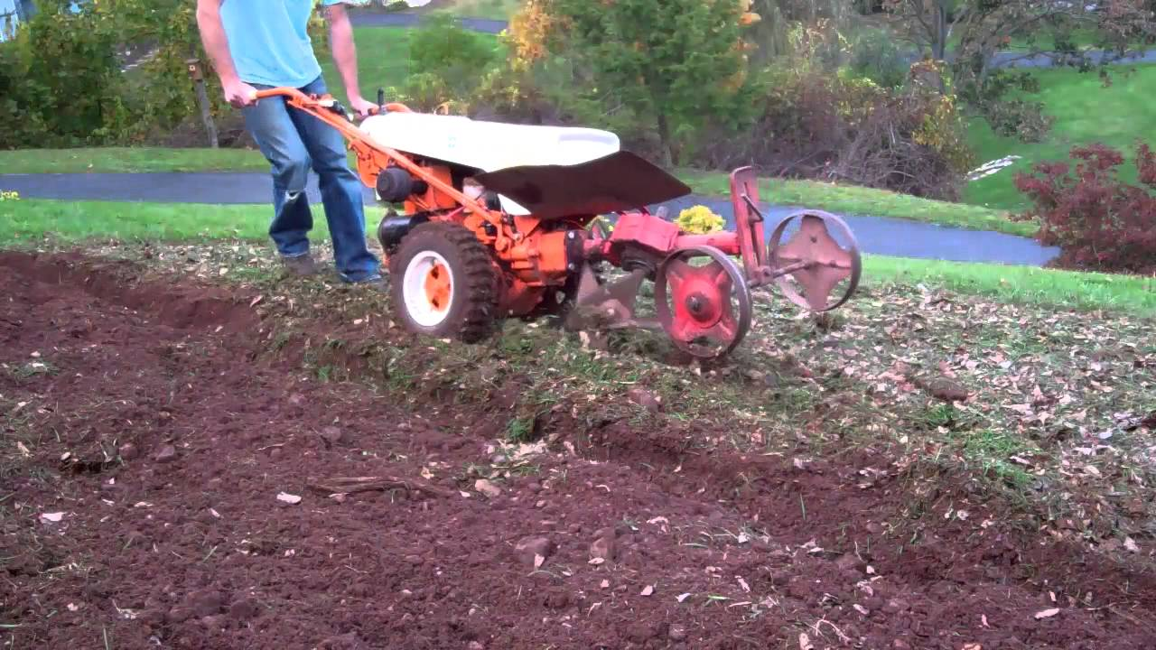 Gravely In The Garden With The Rotary Plow Youtube