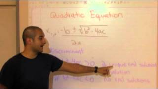 College Algebra Lesson 2: Solving Quadratic Equations Part B