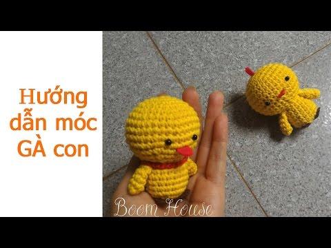 How to crochet chicken - hướng dẫn móc gà con p1 - Boom House