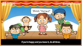 If you're happy and you know it - Nursery Rhymes & Kids Songs - LearnEnglish Kids British Council