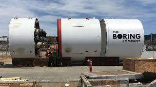 Elon Musk's tunnel boring machine; Elon Musk gets nod from Maryland for hyperloop - Compilation