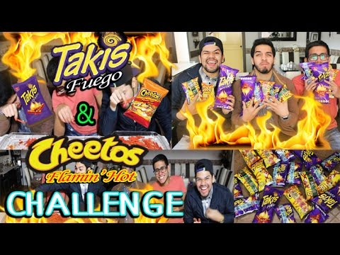 TAKIS FUEGO & HOT CHEETOS CHALLENGE