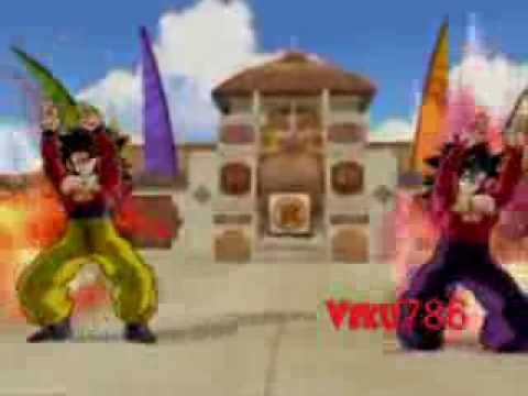 Ssj4 Goku and Ssj4 Gohan Fusion Request by barsason1, Ssj4 Goku and Ssj4 Gohan do the fusion dance and fuse