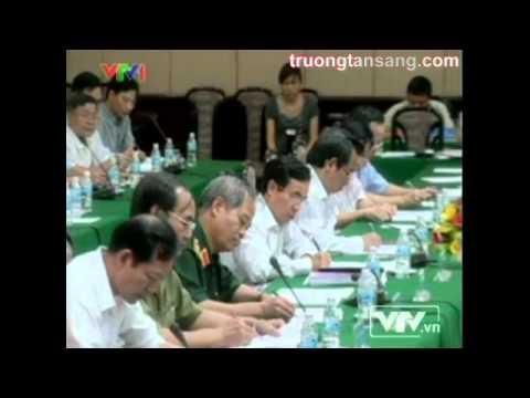 Ông Trương Tấn Sang thăm và làm việc với ban thường vụ thành ủy Hà Nội