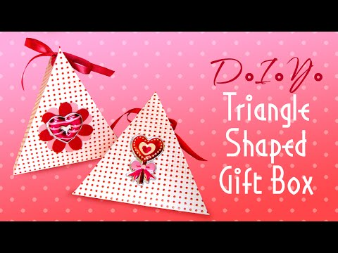 How To Make A Triangle Shaped Gift Box