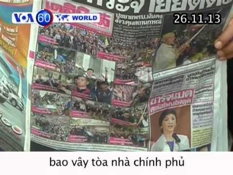 Thái: Người biểu tình bao vây tòa nhà chính phủ, đòi thủ tướng từ chức (VOA60)