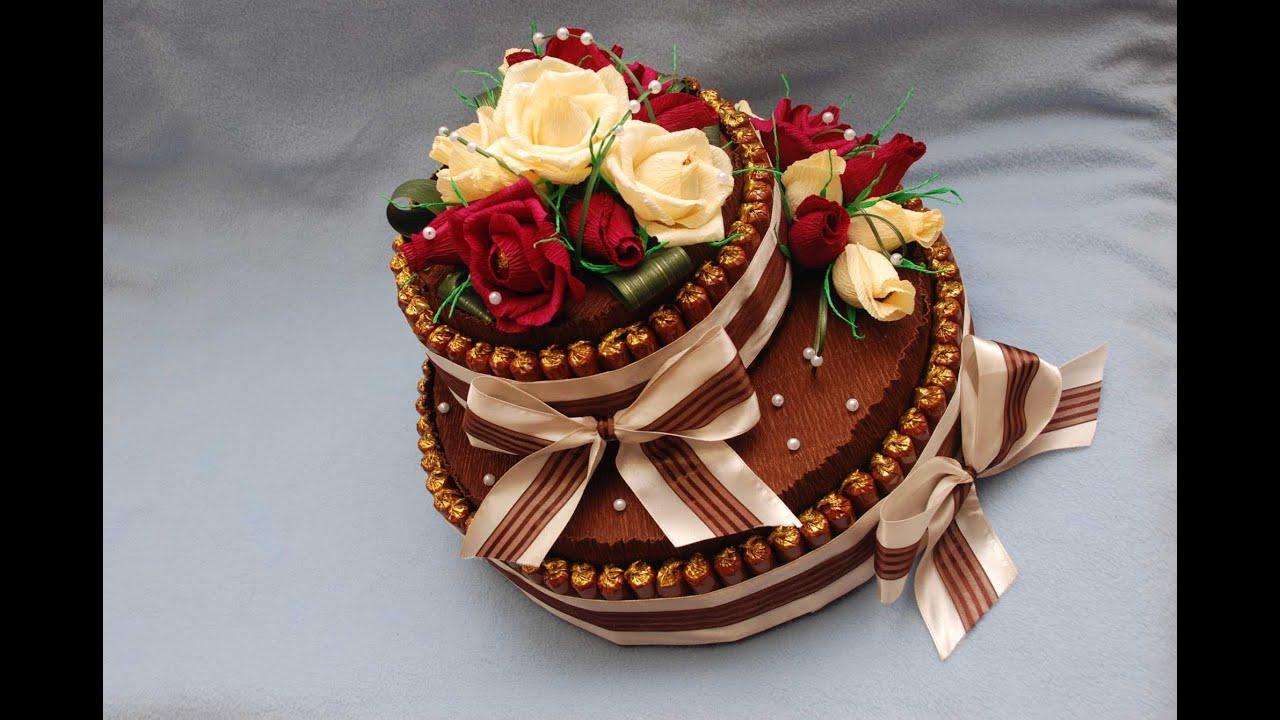 Торт из конфет своими руками мастер класс как сделать