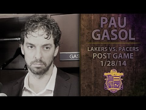 Lakers Vs. Pacers: Pau Gasol,