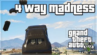 "GTA V - ""4 Way Madness!!!"" - w/ The Sidemen"
