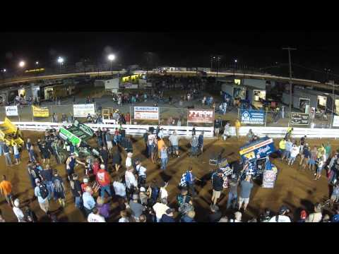 Williams Grove Speedway World of Outlaws Victory Lane 7-18-14