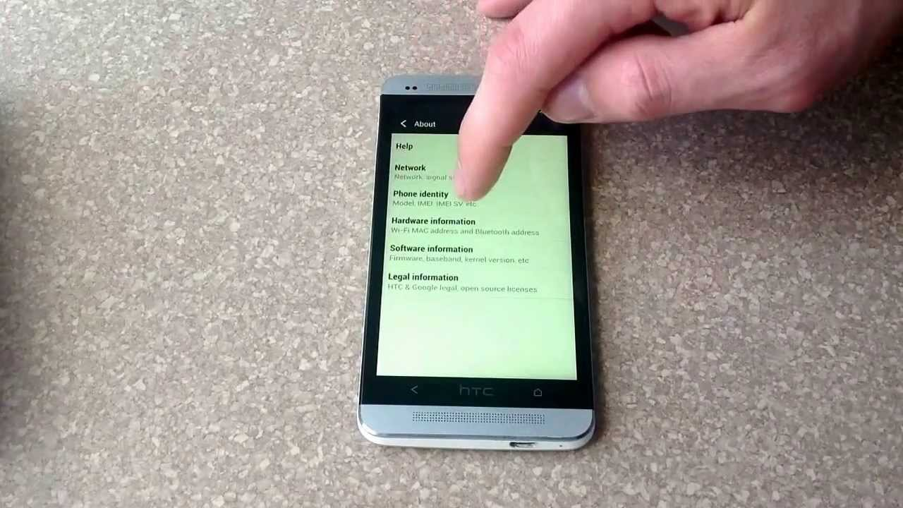 how to check the esn imei number on a htc one youtube