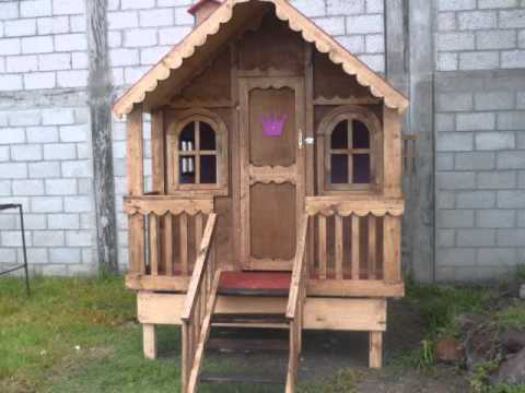 Casitas de madera sherlyn youtube for Casita madera jardin