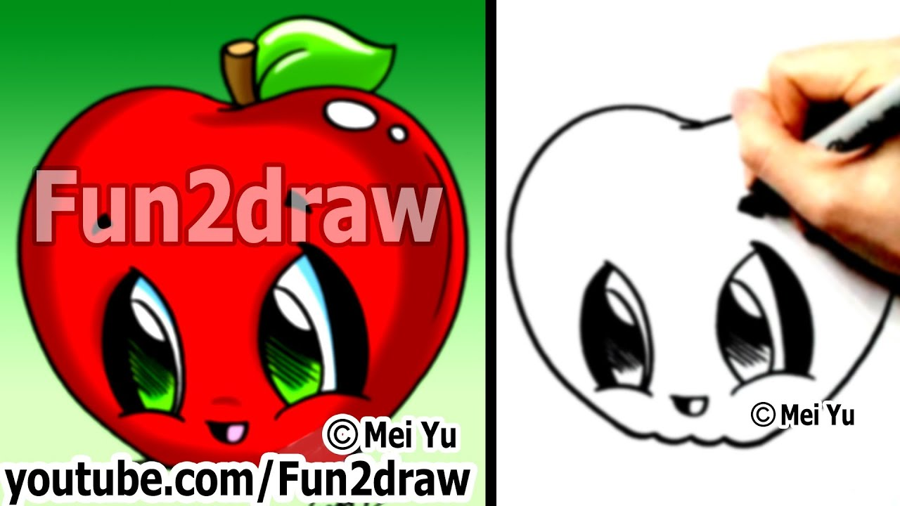 how to draw easy kawaii drawings how to draw food