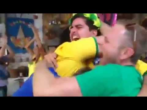 Tony Azevedo celebrates Brazil World Cup win - Rio 2016