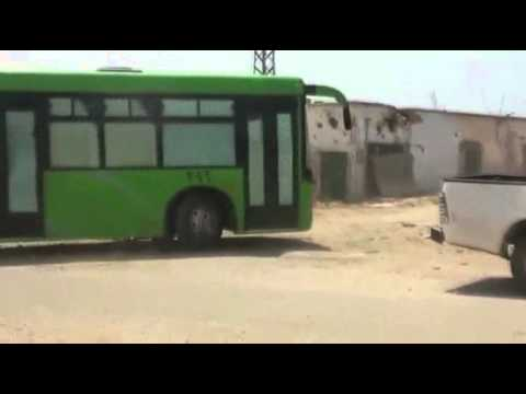 Raw: Syrian Rebels Evacuate Strongholds in Homs